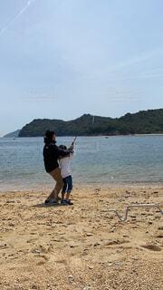 初めての釣りの写真・画像素材[4562702]