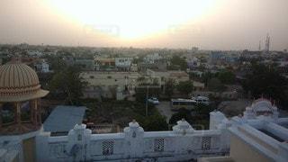 風景,空,建物,街並み,太陽,光,旅行,インド