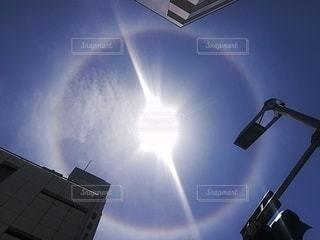 円状の虹の写真・画像素材[2662178]