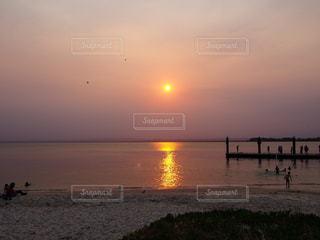 自然,風景,海,空,太陽,ビーチ,夕焼け,夕暮れ,海岸,光,太陽光