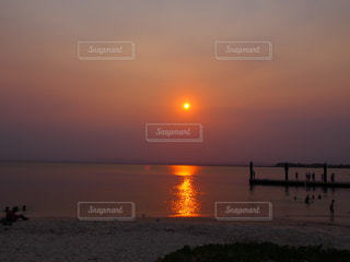 自然,風景,空,屋外,太陽,ビーチ,夕暮れ,海辺,水面,海岸,景色,光,太陽光