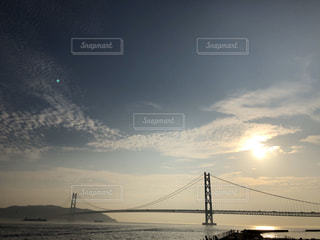 風景,空,太陽,水面,光,クラウド