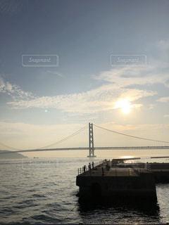 風景,空,橋,太陽,夕暮れ,水面,光,クラウド
