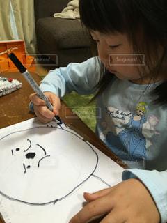 イラスト,女の子,家,書類,大好き,アンパンマン,紙,お絵かき,データ,マジックペン