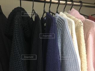 紫色の毛布のクローズアップの写真・画像素材[2722234]