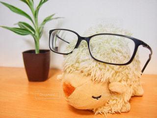 ファッション,アクセサリー,めがね,ひつじ,眼鏡,ぬいぐるみ,黒縁メガネ,メガネ,黒縁眼鏡,ひつじのぬいぐるみ