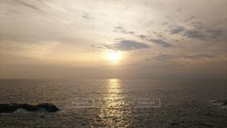海,空,夕日,太陽,光