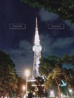 夜の名古屋テレビ塔のの写真・画像素材[2717250]