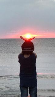 自然,風景,海,空,太陽,砂浜,夕暮れ,海岸,光,人