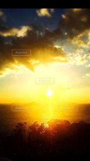 自然,風景,空,太陽,夕暮れ,水面,光,日の出,伊豆