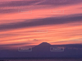 自然,風景,海,空,富士山,屋外,太陽,雲,夕暮れ,山,オレンジ,光,美しい,湘南,葉山,グラデーション