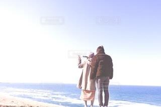 海辺のピースの写真・画像素材[3823833]