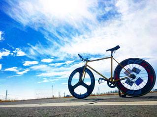 自転車,青空,花見,土手,サイクリング,ピスト,バトン,サムソン