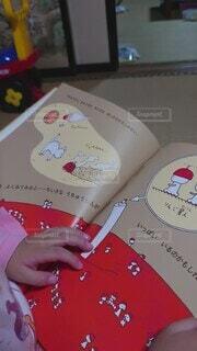 屋内,かわいい,人物,人,絵本,地図,手書き,漫画,テキスト,動画,孫娘,読む,想像,絵だけで読む