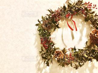 クリスマスリースの写真・画像素材[2834789]