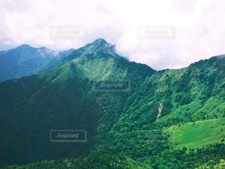 石鎚山からの眺めの写真・画像素材[3640162]