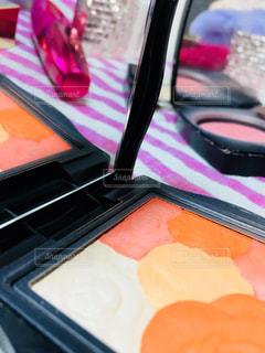 ピンク,かわいい,オレンジ,可愛い,美容,ミラー,コスメ,化粧品,チーク