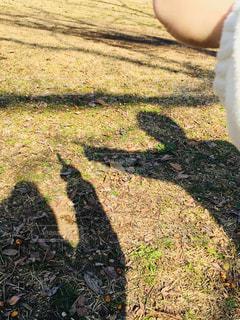 指差しをする2人の影の写真・画像素材[2941441]