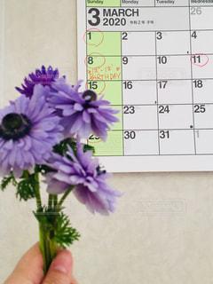 カレンダーのクローズアップの写真・画像素材[3011770]