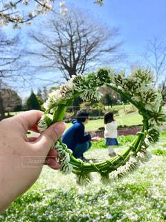 家族でピクニックの写真・画像素材[3061676]