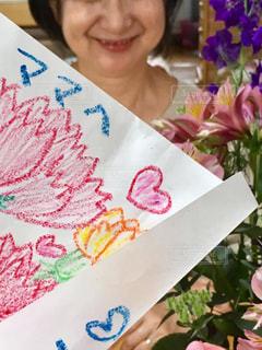 母の日のメッセージのクローズアップの写真・画像素材[3192452]