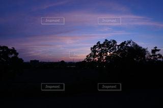 自然,空,夕日,夕暮れ