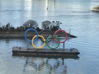 自然,湖,水面,反射,ロゴ,東京2020オリンピック