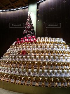 屋内,ぬいぐるみ,クリスマス,くまさん,クリスマス ツリー