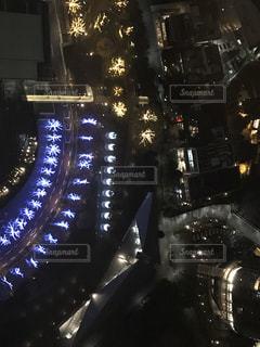 夜,夜景,イルミネーション,都会,高層ビル,クリスマス