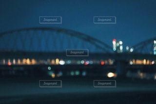 橋と夜景の写真・画像素材[3372105]