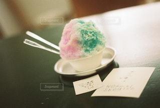 カラフルかき氷の写真・画像素材[3582326]