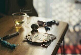 刺繍タイムの写真・画像素材[3753980]