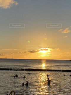 夕陽の写真・画像素材[2894532]