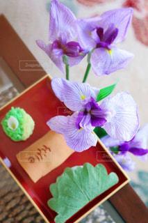 テーブルの上の和菓子の写真・画像素材[2968043]
