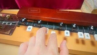 大正琴を弾くと落ち着きます。の写真・画像素材[3208839]