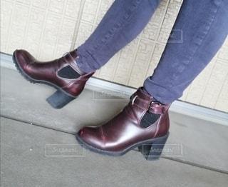 茶色のブーツの写真・画像素材[2713476]