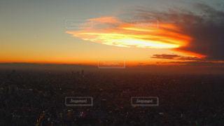 スカイツリーから撮った夕空の写真・画像素材[961177]