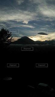 自然,風景,空,富士山,太陽,夕暮れ,光,雲海,静岡,御殿場,夕刻,夕映え