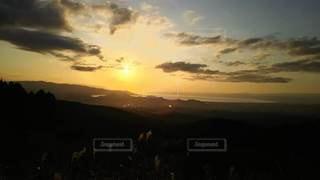 自然,風景,空,夕日,屋外,太陽,雲,夕暮れ,光,夕映え,駿河湾
