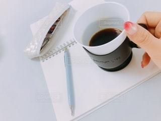 コーヒー,屋内,ペン,ノート,カップ,書類,文房具,紙,データ