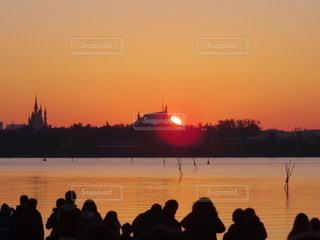 空,太陽,シルエット,光,日の出,ディズニー,葛西臨海公園
