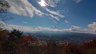 自然,風景,空,秋,富士山,屋外,雲,山,観光,樹木,旅行,ドライブ,草木,眺め,日中