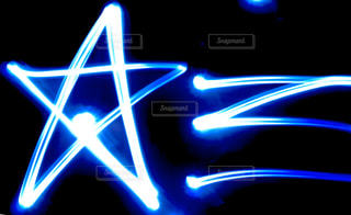 流れ星を書いたの写真・画像素材[3184610]