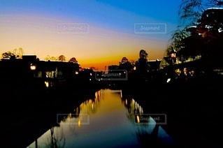 美観地区の夕景の写真・画像素材[3396006]