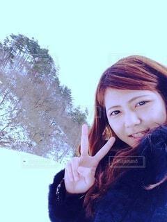 嫁さんの自撮りの写真・画像素材[3835619]