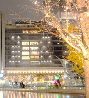 夜,反射,イルミネーション,ライトアップ,高層ビル,クリスマス,梅田,明るい,一眼レフ,クール,グランフロント大阪,インスタ映え,うめきた広場,シャンパンゴールド,映え写真,グランフロントクリスマス,テッドイベール,緑のクマ
