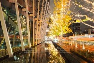 建物,夜,反射,樹木,イルミネーション,都会,ライトアップ,道,高層ビル,クリスマス,照明,歩道,買い物,梅田,装飾,レーザービーム,明るい,デート,一眼レフ,ショッピング,グランフロント大阪,街路灯,インスタ映え,うめきた広場,シャンパンゴールド,映え写真,グランフロントクリスマス