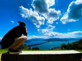 天橋立を撮影中の写真・画像素材[4012959]