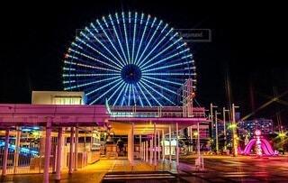 大阪、天保山にある観覧車の写真・画像素材[4067895]
