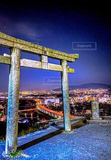 五月山公園からの夜景の写真・画像素材[4067936]